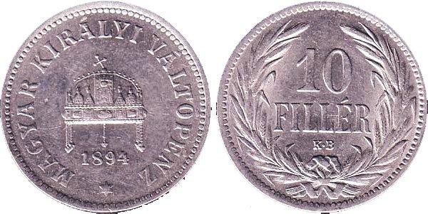 10 филлеров 1894 года