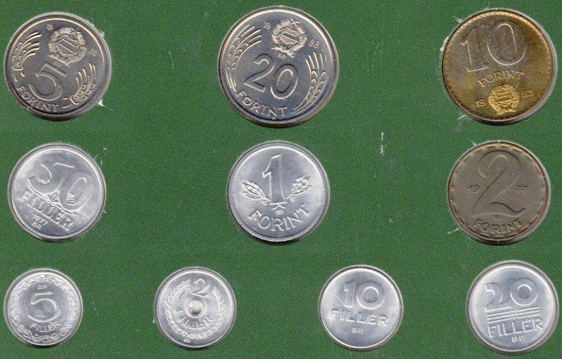 Комплект обиходных монет Венгрии