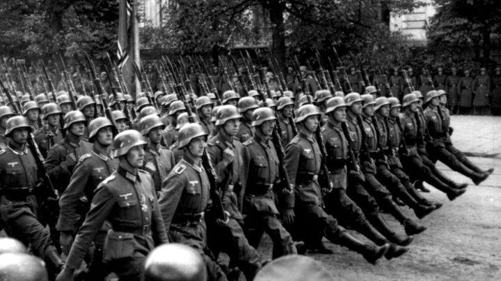 Немецкие войска в Варшаве. 1939 г.