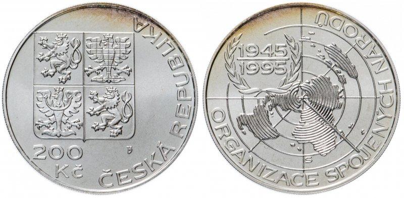 200 крон 1995 года «50 лет ООН»