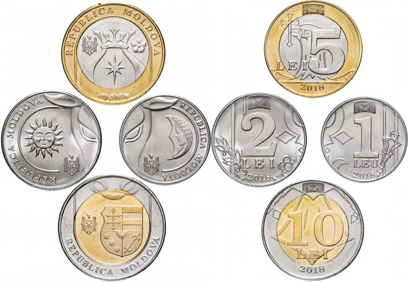 Молдова. Набор монет 2018 года