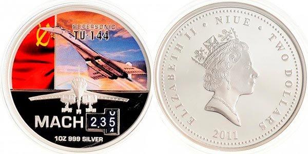 2 доллара «Ту-144», Ниуэ, 2011 год