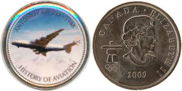 25 центов «История авиации: Ан-225», Канада, 2007 г.