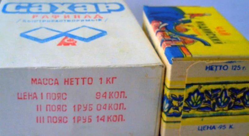Сахар с указанием цены для всех поясов