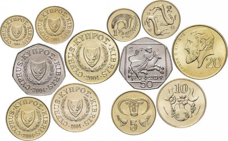 Кипрские монеты регулярного чекана до ввода евро