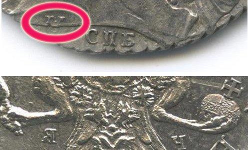 Фрагменты монетного поля с буквенными обозначениями
