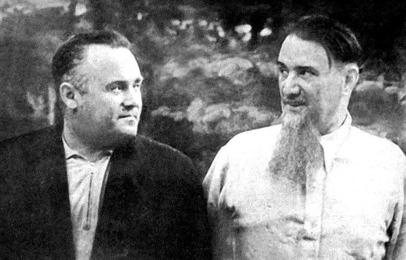 Академики АН СССР С.П. Королев и И.В. Курчатов, 1959 год