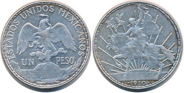 1 песо 1910 г.