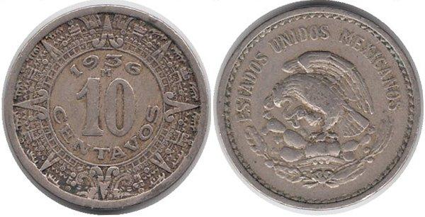 10 сентаво 1936 г.