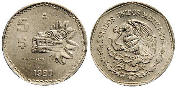 5 песо 1980 г.