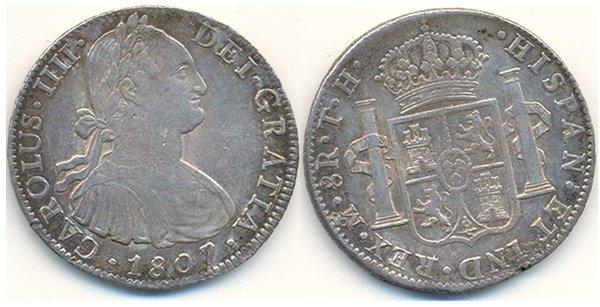 8 реалов 1807 г. – «мексиканский доллар»