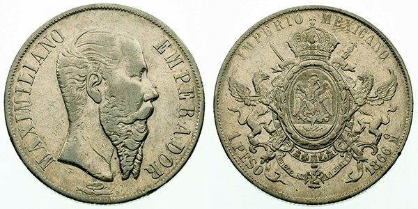 1 песо 1866 г.