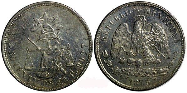50 сентаво 1875 г.