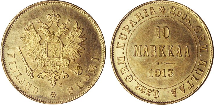 Золотые 10 марок