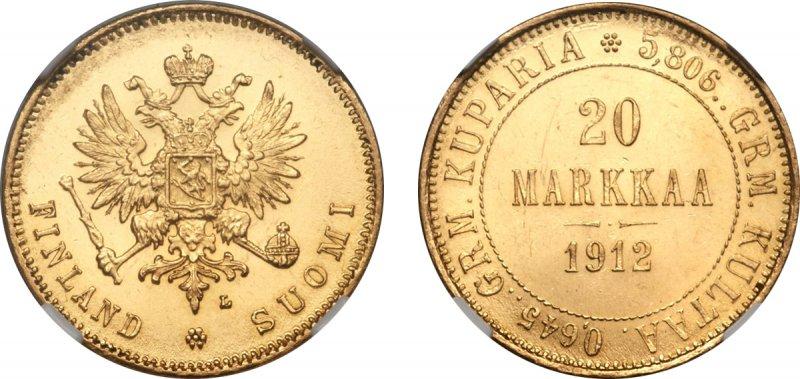 Редкие 20 марок 1912 года L