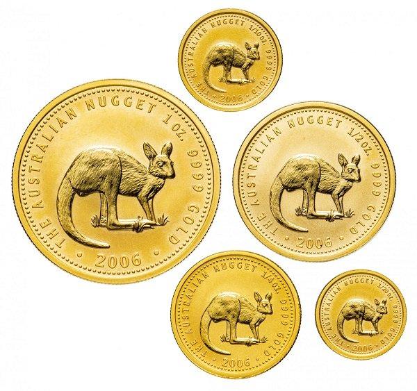 Набор инвестиционных золотых монет «Австралийский кенгуру», 2006 год