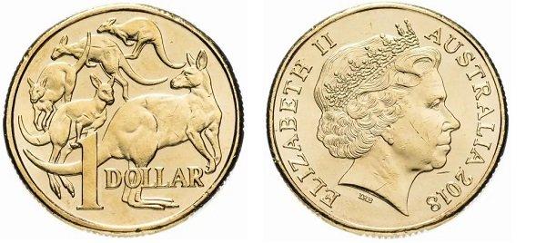 1 доллар 2018 года, Австралия