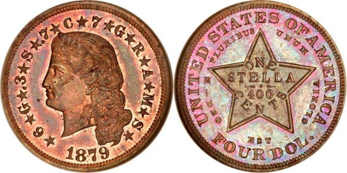 4 доллара 1879 года (медь)