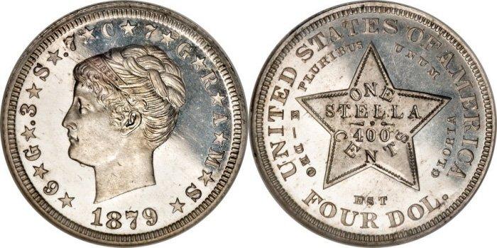 4 доллара 1879 года (алюминий)