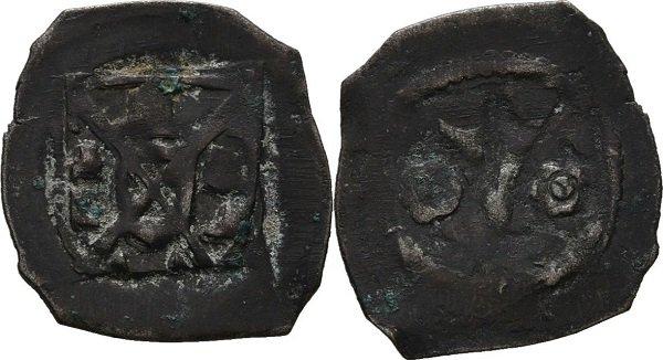 Schwarzpfennige («черный пфенниг»). Ульрих фон Флобург, граф Эттинген. 1423-1477 гг. Биллон, 0,6 г