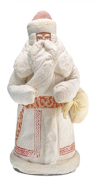 «Дед Мороз», вата, ткань, раскраска, Калининское производственное объединение художественной промышленности, 1960-1970 гг.