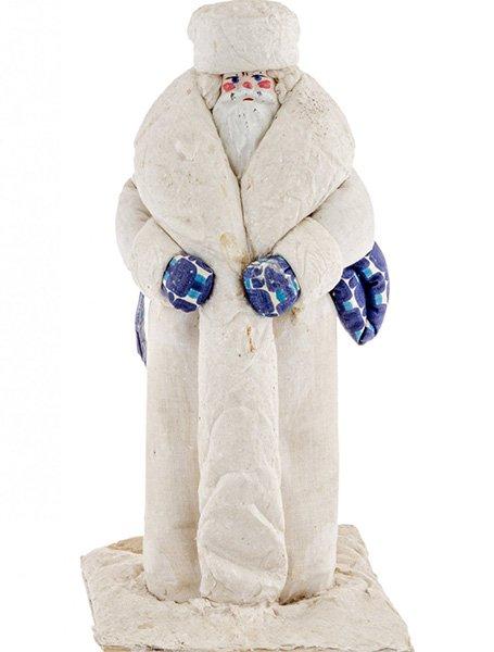 «Дед Мороз», вата, ткань, раскраска, Куйбышевская фабрика игрушек, 1970-1990 гг.