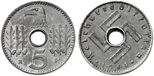 5 рейхспфеннигов