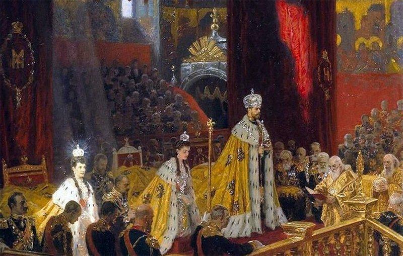 "Лауриц Туксен. ""Коронация Николая II и Александры Федоровны"" (фрагмент). 1898 г."