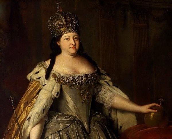 Луи Каравак. Коронационный портрет императрицы Анны Иоанновны (фрагмент). 1730 год