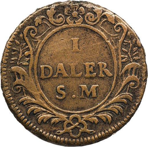 Далер Гёрца. 1718 год. Медь. Швеция