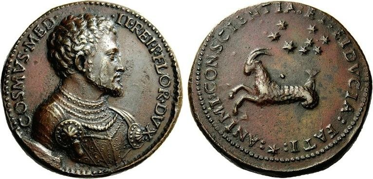 Медаль Козимо Медичи с изображением Козерога