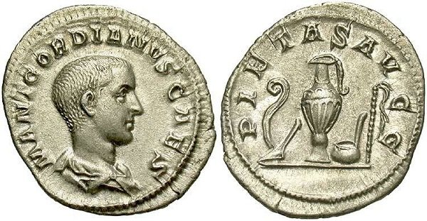 Один из последних римских денариев. Денарий Гордиана III. 238 год