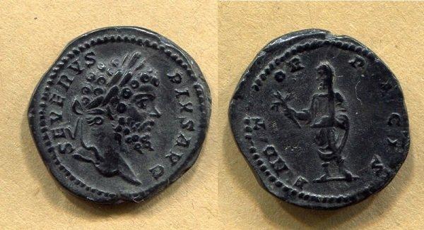 «Лимесный денарий». Септимий Север (193-211 гг.)