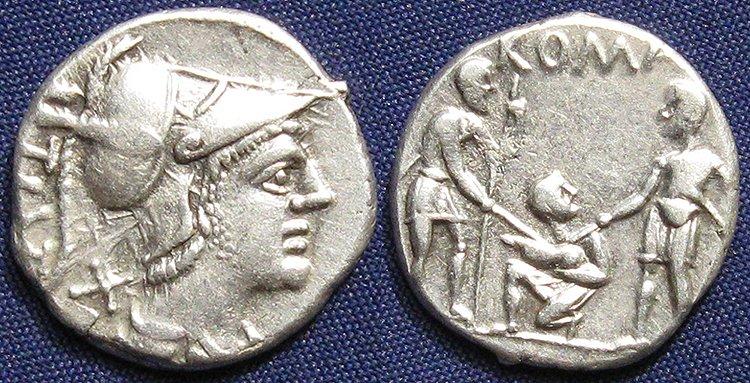 Денарий. 137 год. Тиберий Ветурий. Серебро