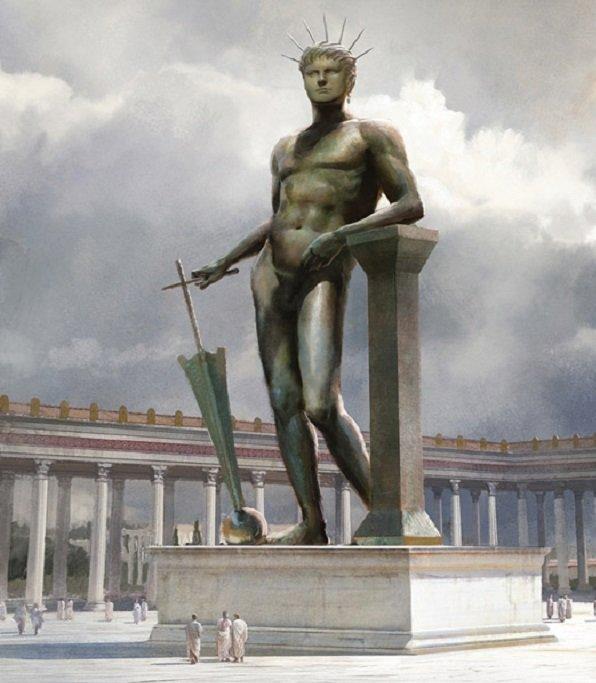 Несохранившийся Колосс Нерона в Риме. Реконструкция