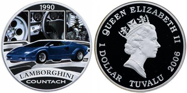 Тувалу. 1 доллар 2006 года. Lamborghini Countach