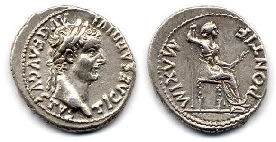 Динарий 16 г. н.э.