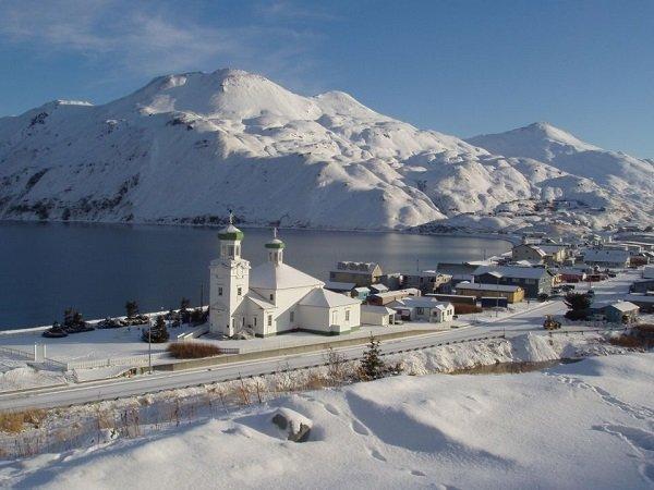 Город Уналашка. Штат Аляска. США