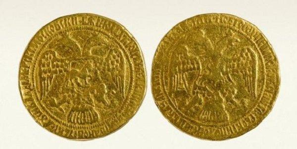 «Свадебный» золотой Лжедмитрия I. 1606 год. Из нумизматической коллекции Эрмитажа