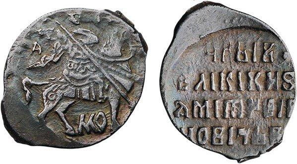 Копейка Лжедмитрия I (1605-1606 гг.). Московский денежный двор