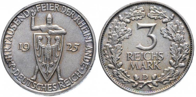 Тысячелетие Рейнланда (3 рейхсмарки)