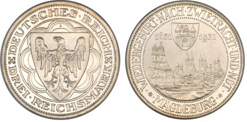 300 лет возрождения Магдебурга (3 рейхсмарки)
