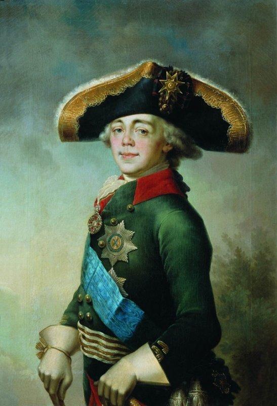 В. Боровиковский. Портрет императора Павла Петровича. 1796 год