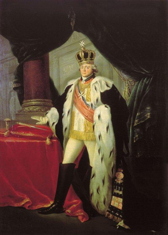 Сальватор Тончи. Павел I в парадном одеянии Великого Магистра Мальтийского ордена. 1801 год