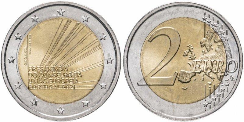 """2 евро """"Председательство в Совете ЕС"""" (Португалия)"""