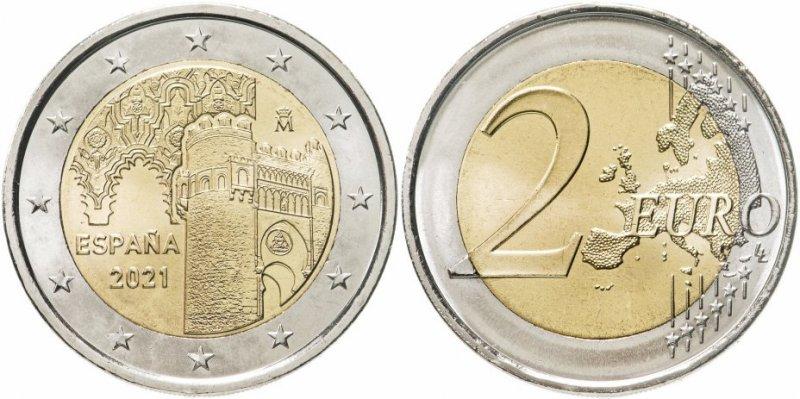 """2 евро """"Толедо"""" (Испания)"""