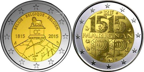 Проекты монет 2 евро, не одобренные Еврокомиссией