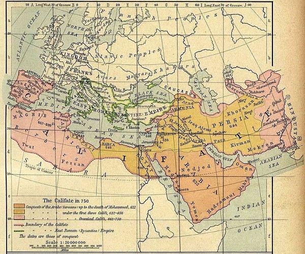 Арабский Халифат в середине VIII века