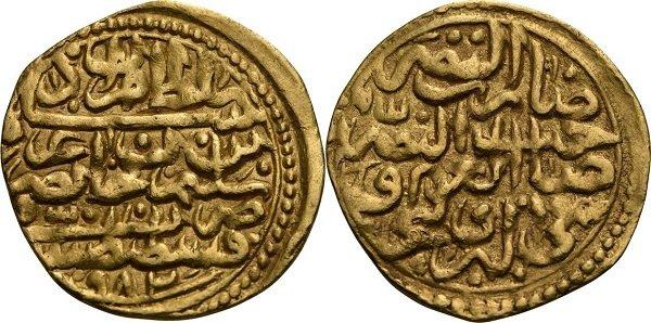 Золотой динар. Османская империя. Мурад III ибн Селим (1574-1595 гг.). 3,43 г. Монетный двор в Мисре
