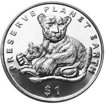 1 доллар. «Берегите планету Земля». Эритрея. 1995 год